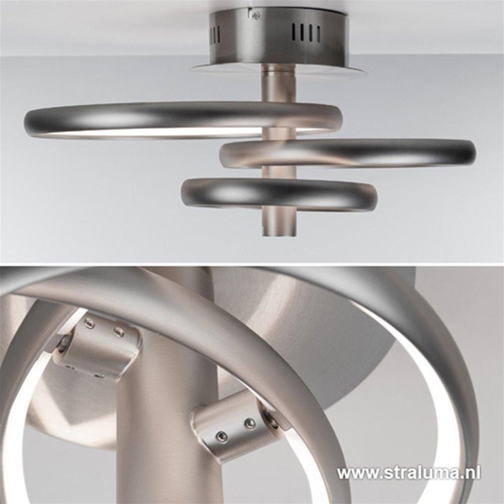 LED plafondlamp- plafonnièr mat nikkel