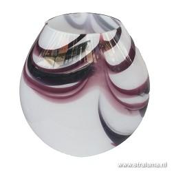 *Decoratieve vaaslamp aubergine Murano