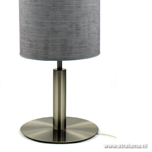 tafellamp nikkel kap grijs slaapkamer straluma