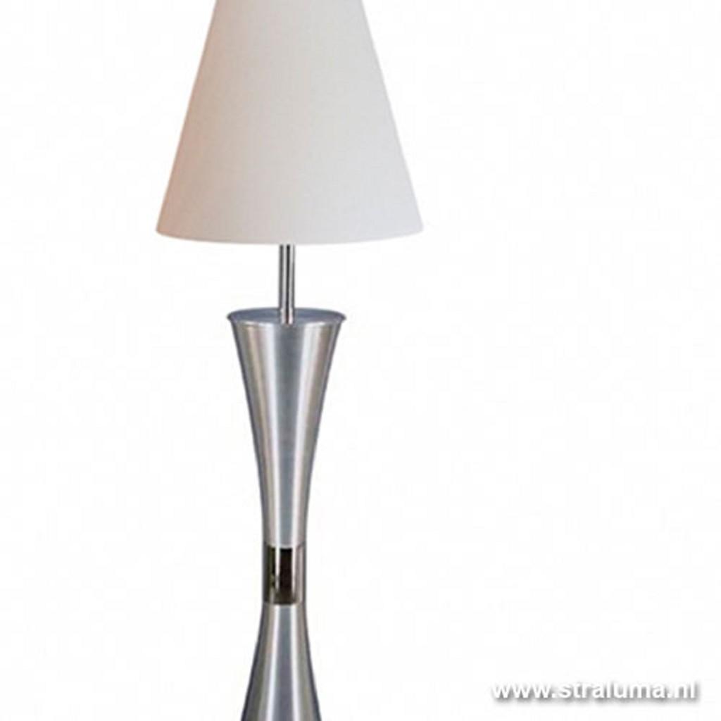 Speelse vloerlamp wit woonkamer