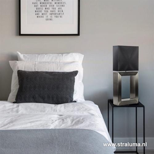 Tafellamp strak zwart design