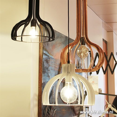 Industriele design hanglamp wit hal-wc