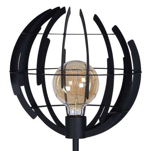 Modern design vloerlamp met mat zwarte bol