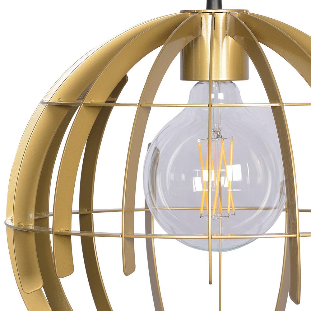 Kleine chique design hanglamp gouden bol