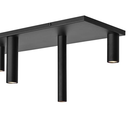 Plafondlamp Olmo 7L zwart tubes mix