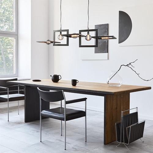 Industriële hanglamp mat zwart metalen frame
