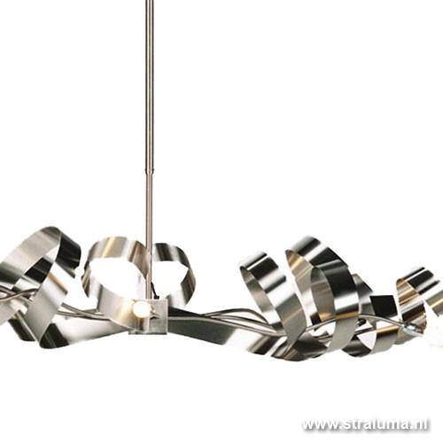 Hanglamp rvs design top boven eettafel straluma for Wandlamp boven eettafel