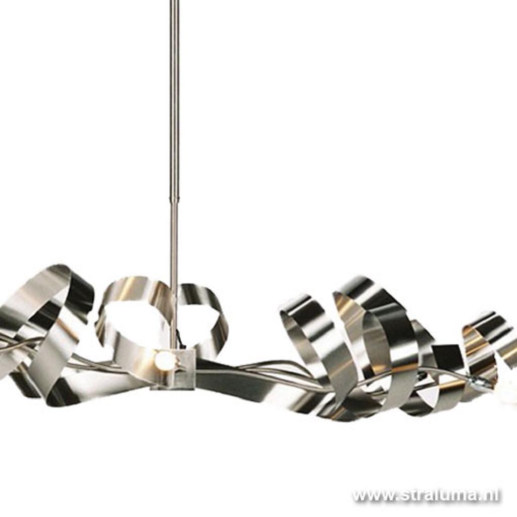 Hanglamp RVS design top boven eettafel