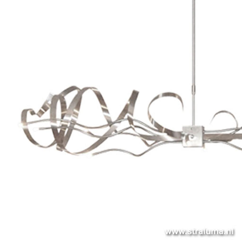 **Unieke rvs hanglamp voor eettafel/bar