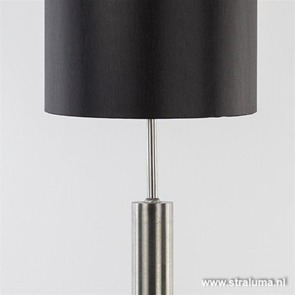 Cilindertafellamp rvs zwart