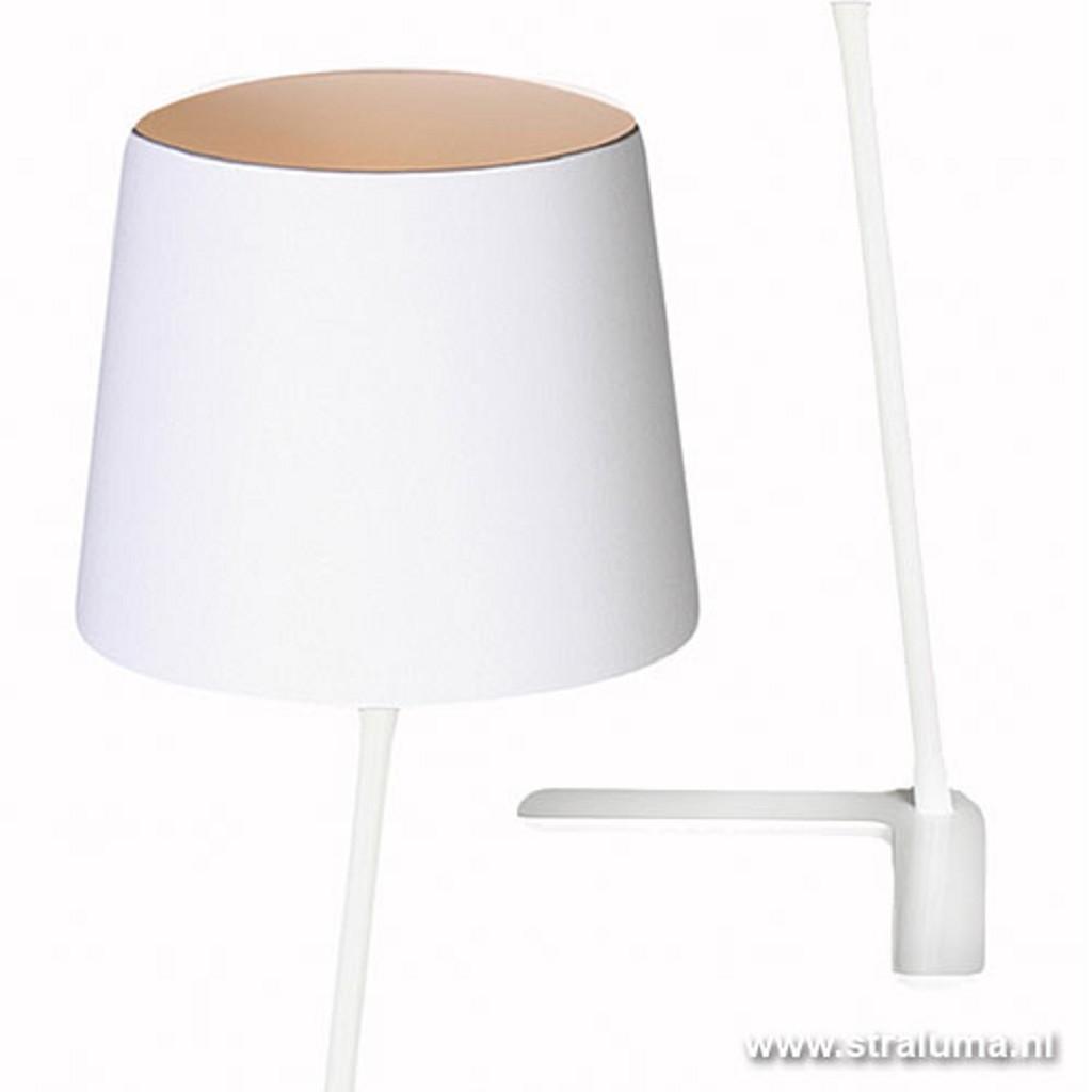 Tafellamp Ravenna wit/chintz kap wit