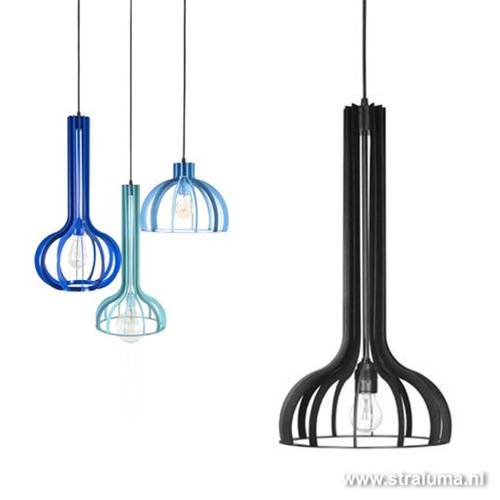 Industriele design hanglamp zwart