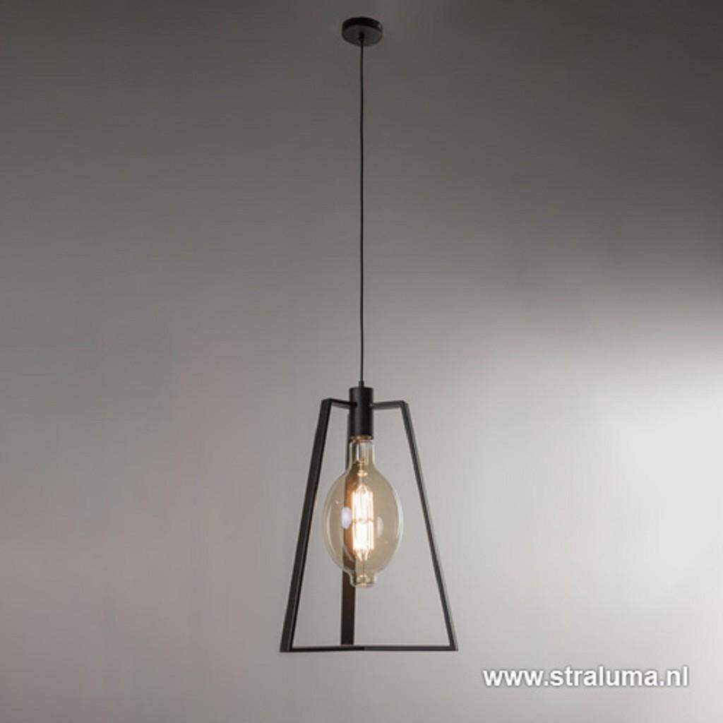 Hanglamp open frame zwart e40