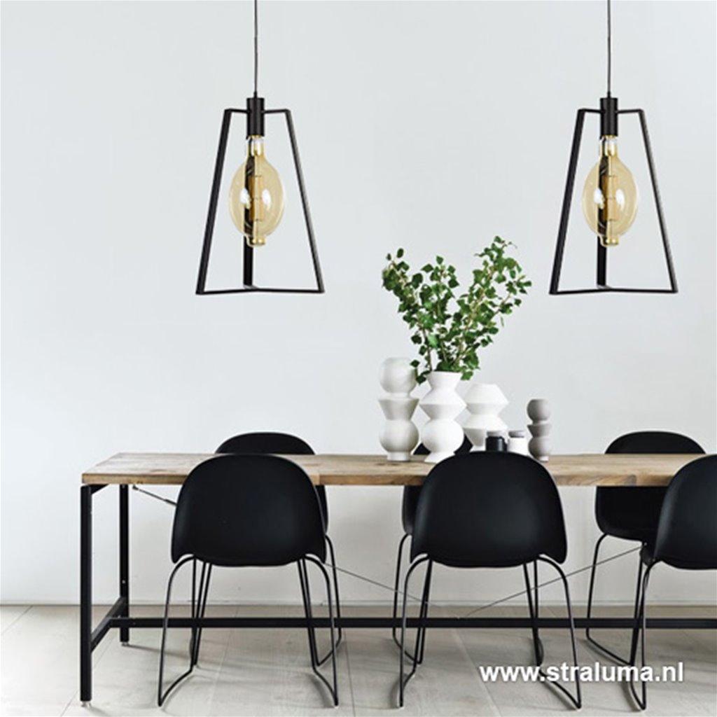 Scandinavische hanglamp zwart