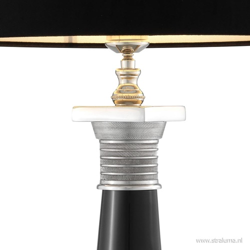 Tafellamp Napoleon nikkel zwart