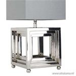 Tafellamp bellagio kubus zilver