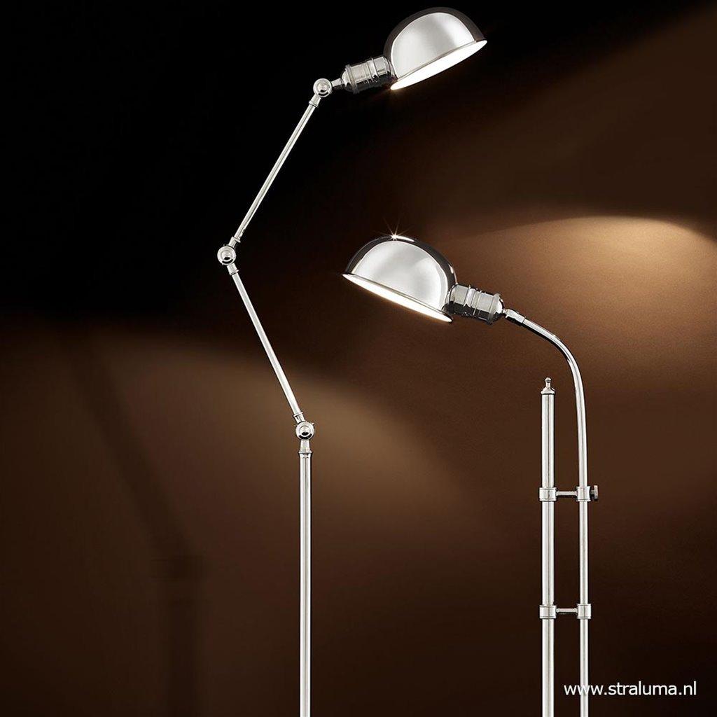 Romantische leeslamp old design zilver