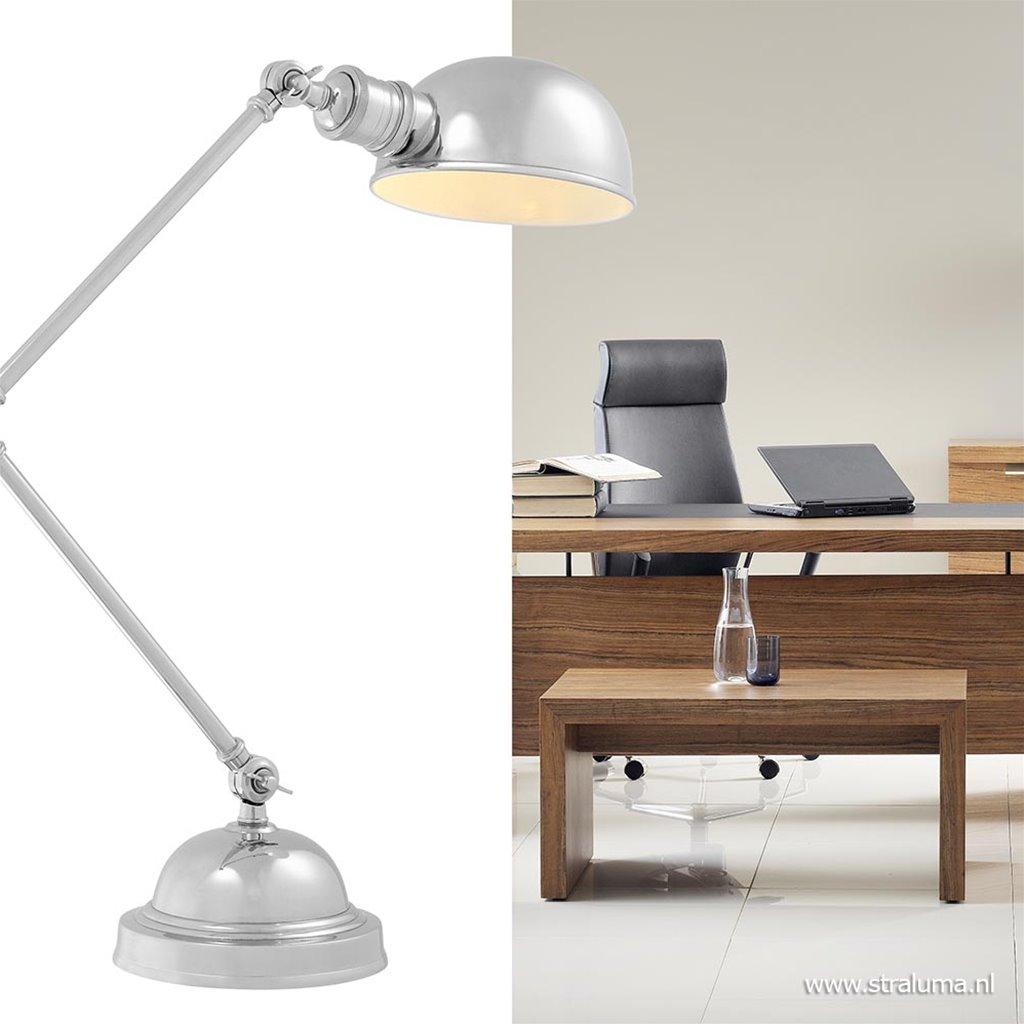 Klassieke bureaulamp soho zilver