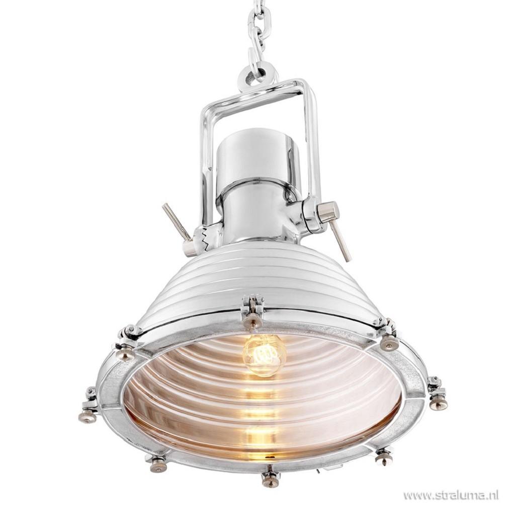 Hanglamp maritiem zilver hal/eettafel
