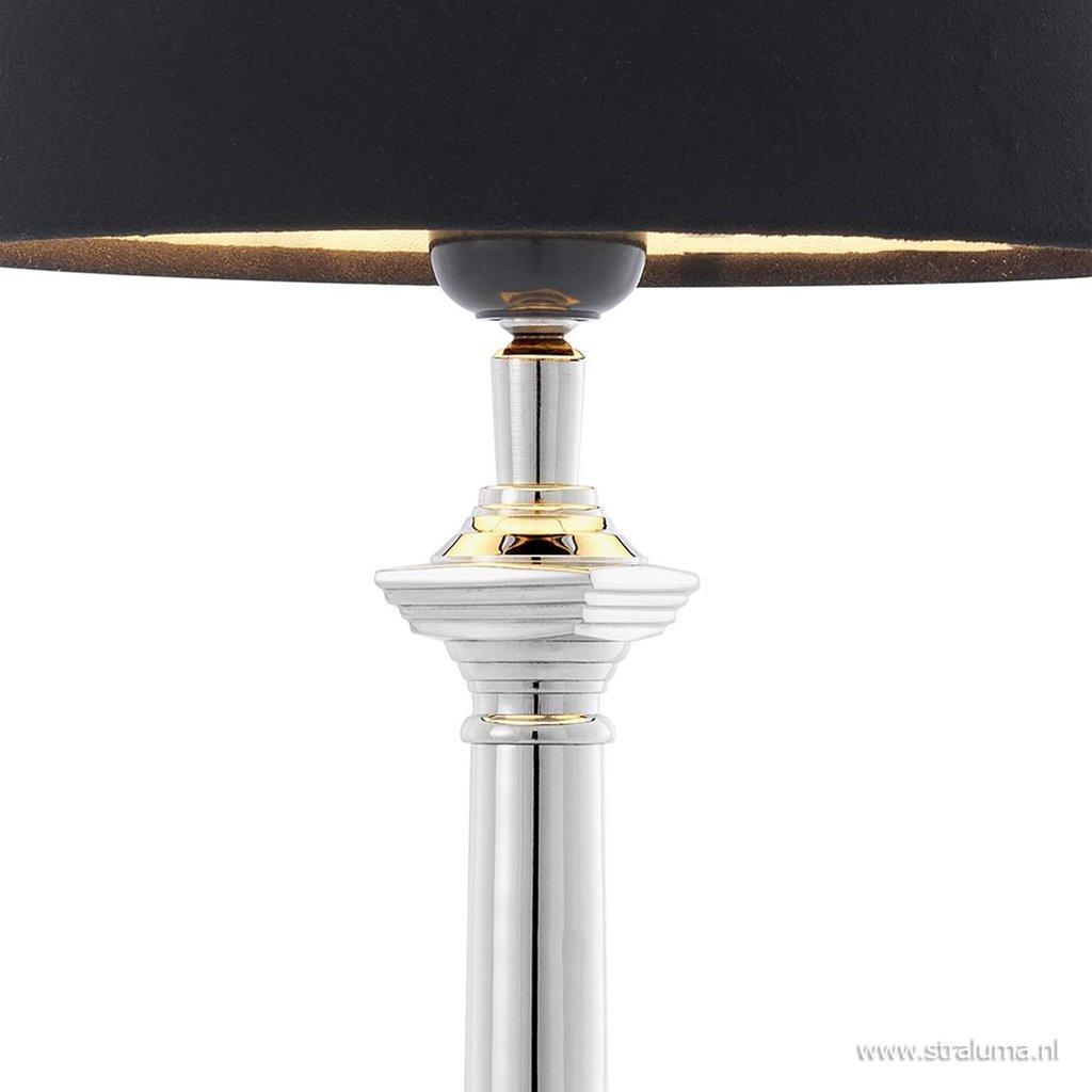 Tafellamp cologne zilver zwart