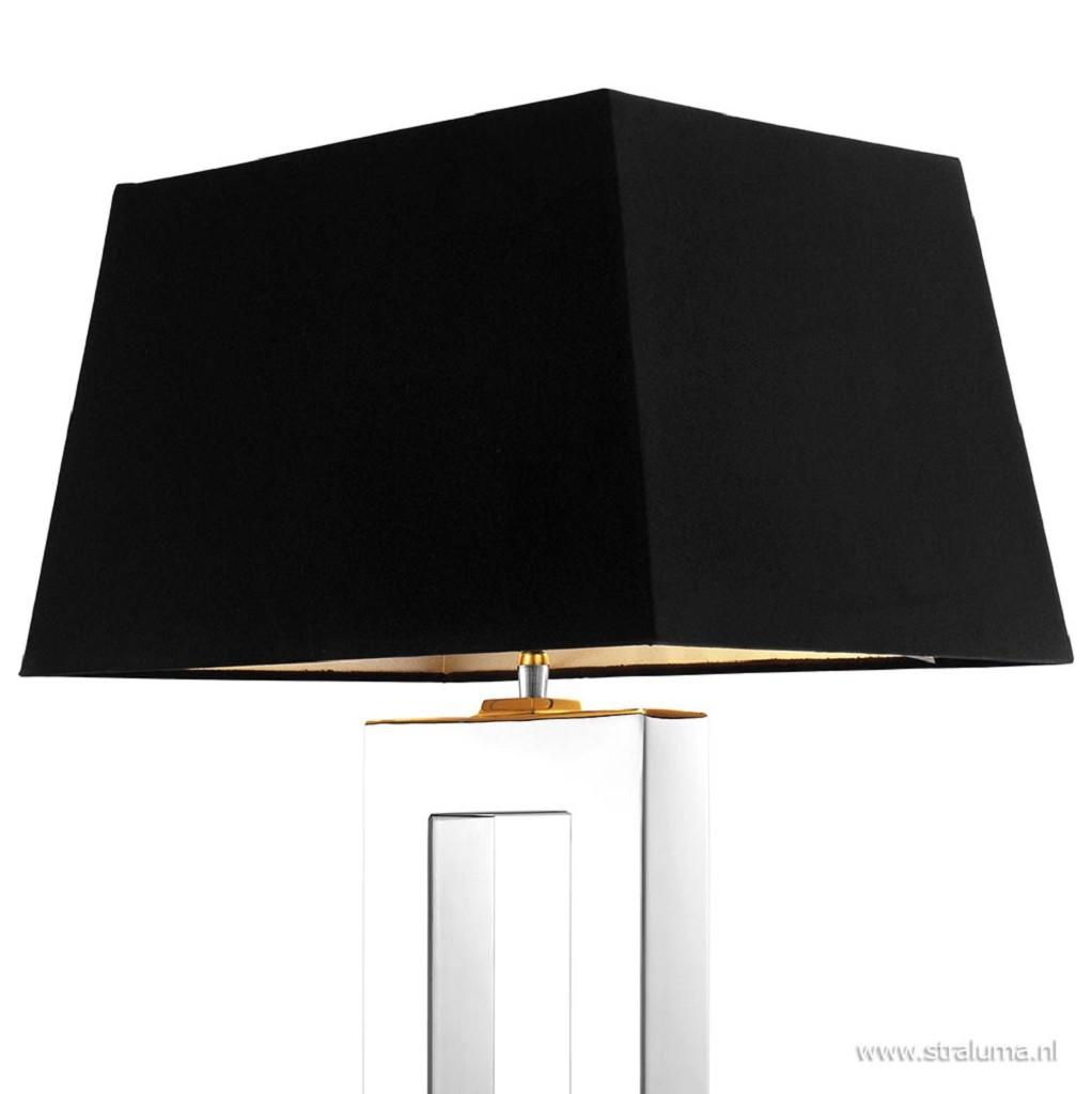 Tafellamp arlington zilver en zwart