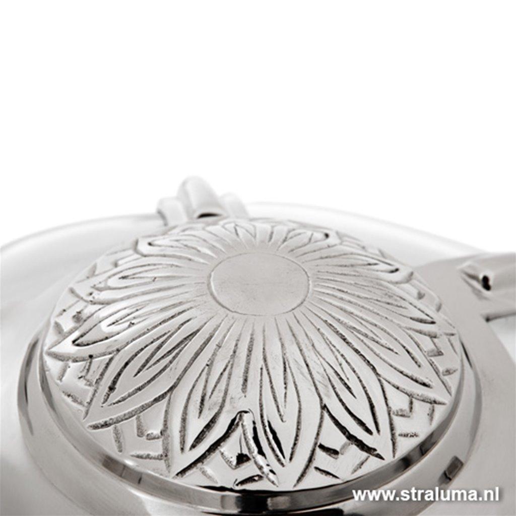 Chique plafonnière oud zilver nautica