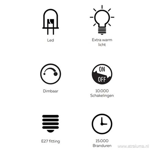 Calex Barcelona LED lamp titanium 4W E27