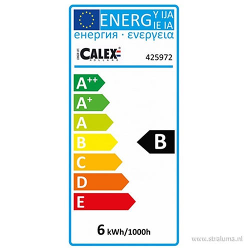 Calex XXL Vienna LED lamp Titanium E27 6W