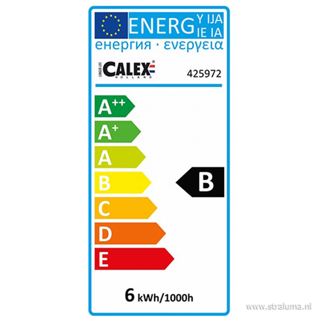 Calex Paris lichtbron titanium 6w e27