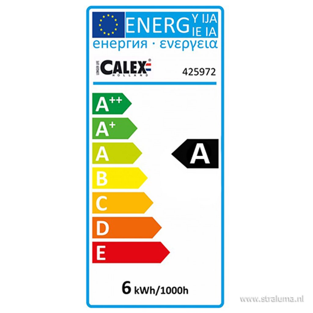 Calex XXL Organic LED lamp Gold 240V 6W