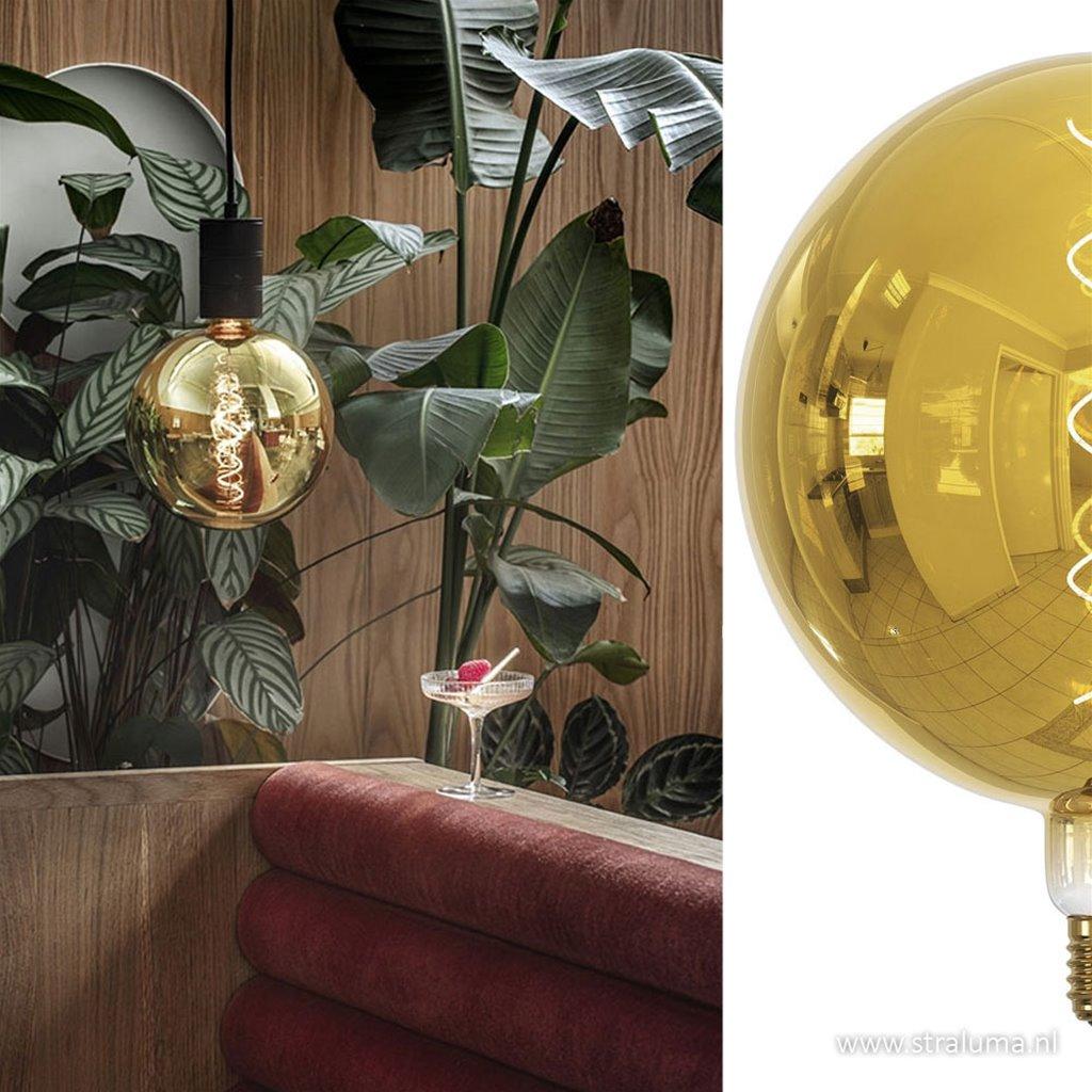 Calex Kalmar Globe G200 goud 2000K dimbaar