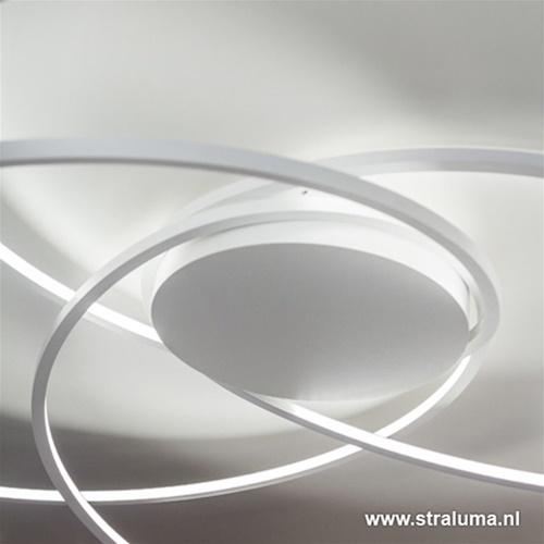 Plafondlamp bogen speels wit 80cm