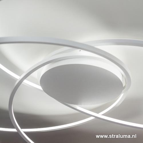 Design led plafondlamp wit rond straluma for Design plafondlamp
