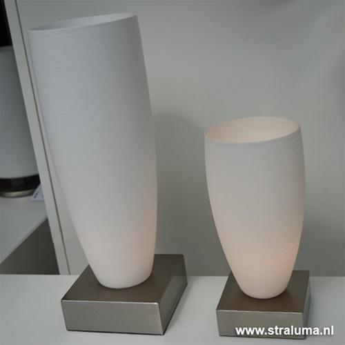 Glazen vaas tafellamp Valenso groot