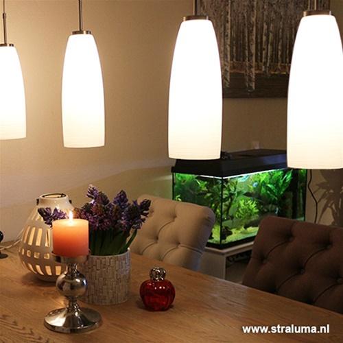 Valenso moderne hanglamp glas 4-lichts