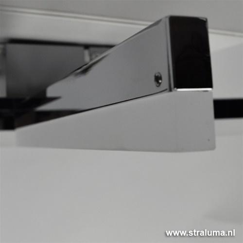 Chroom plafonnière LED Sopra keuken