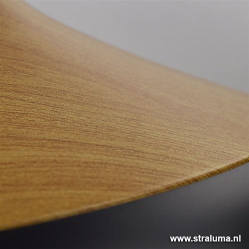 Scandinavische hanglamp zwart en hout