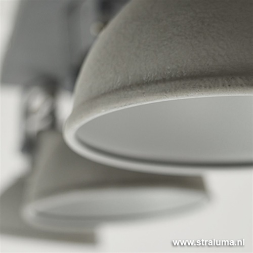 Grijze industriele plafondspot 3-lichts