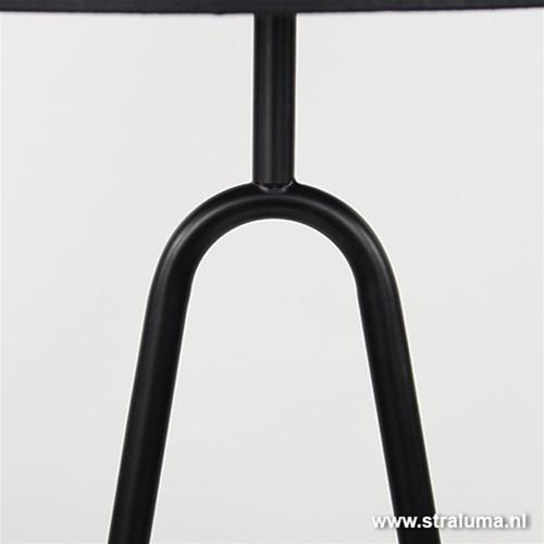 Moderne tafellamp zwart dressoir