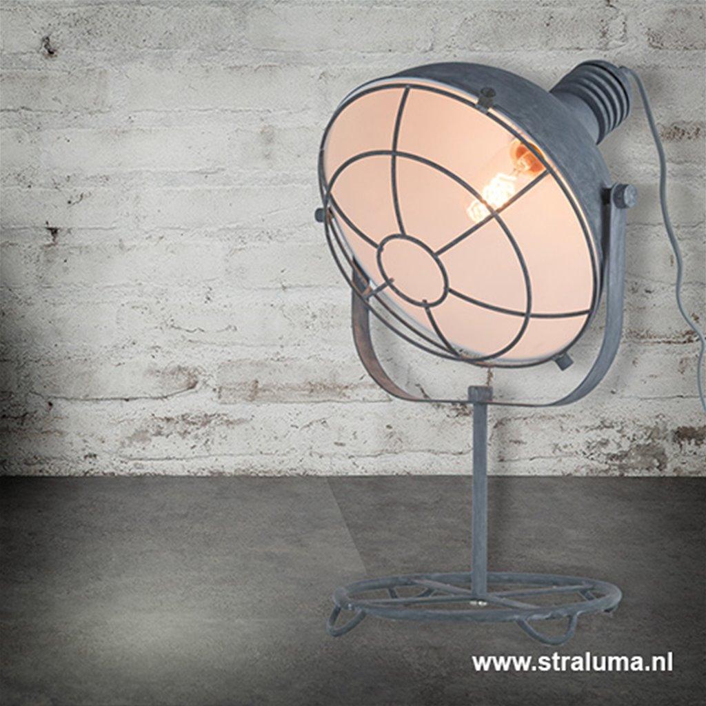 Industriële tafelspot-lamp betonlook