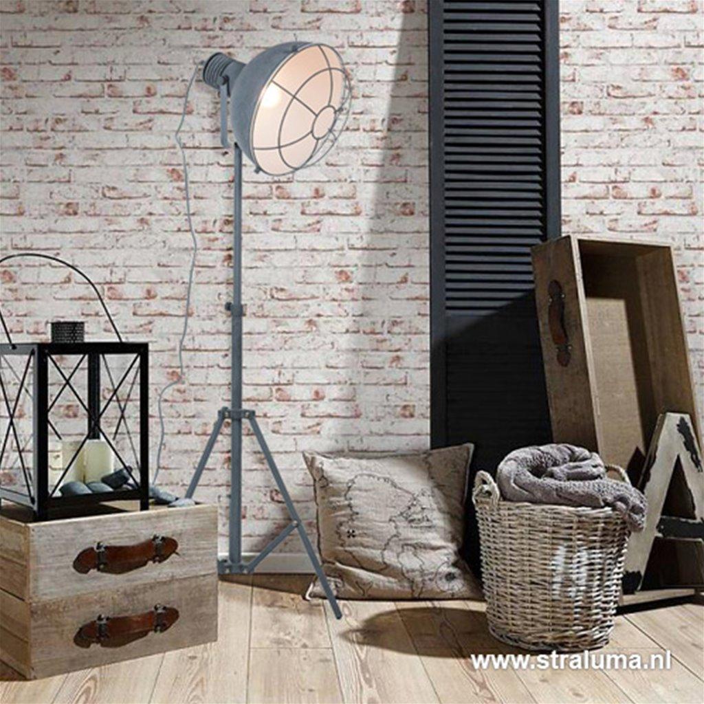 Industriële vloerlamp betonlook driepo