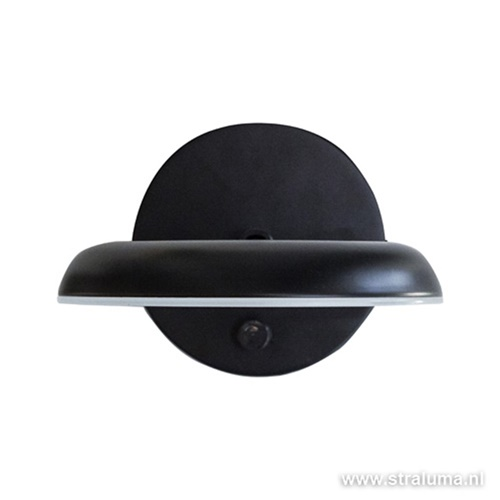 **Wandlamp Avina zwart met dimmer