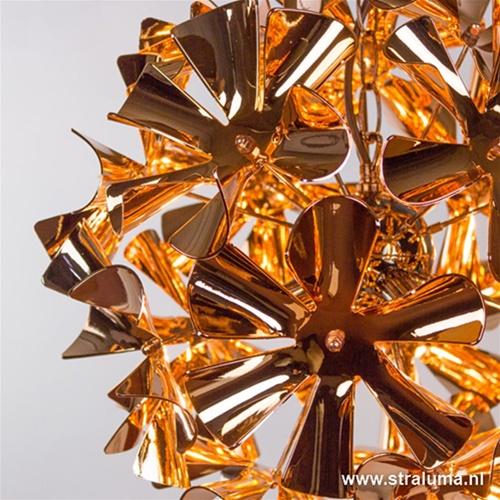 Decoratieve koper bloemen hanglamp kle