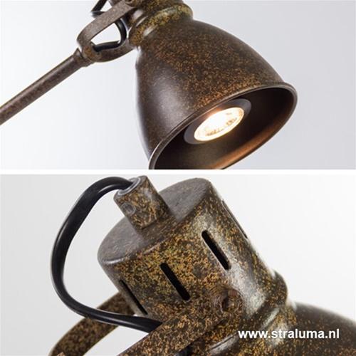 Leeslamp roestbruin incl. gu10