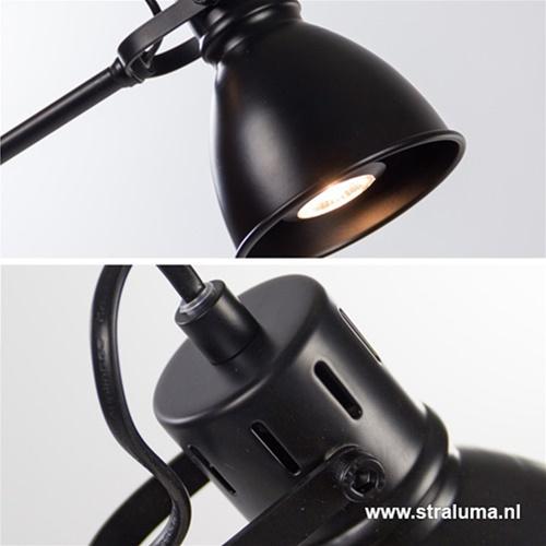 Staande leeslamp zwart incl. gu10