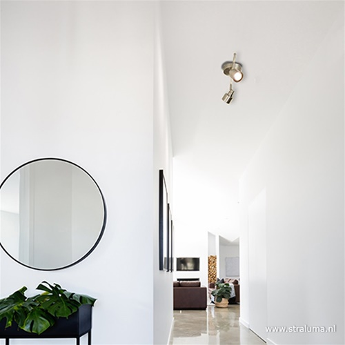 Moderne 2-lichts plafondspot LED staal
