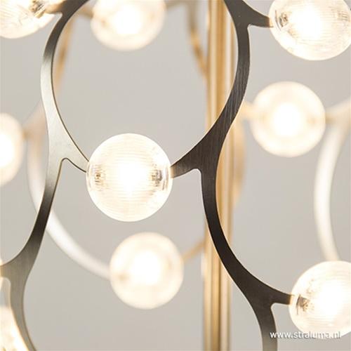Mooie LED tafellamp staal met dimmer