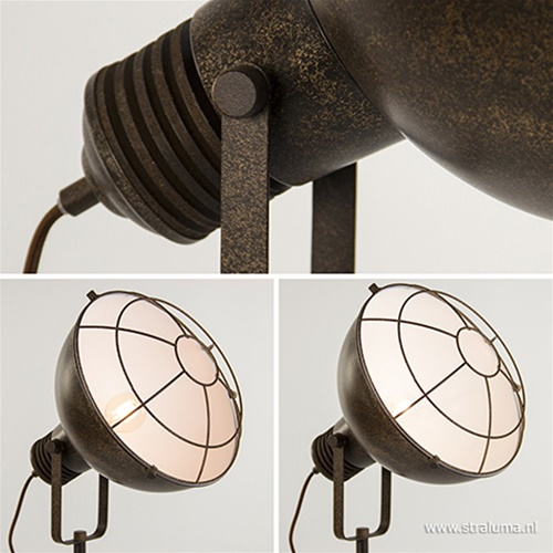 Industriele staande lamp roestbruin