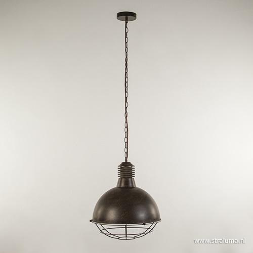 Roestbruine hanglamp met rooster
