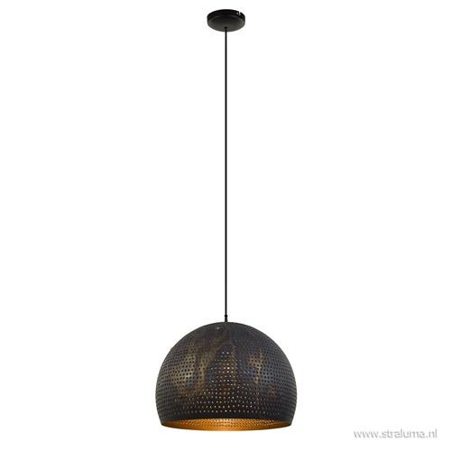 Hanglamp geperforeerd staal brons-bruin
